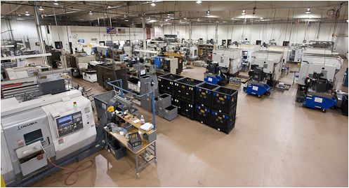 CNC Industries shop floor